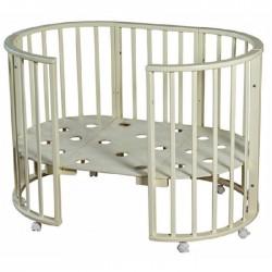 Детская круглая (овальная) кроватка для новорожденного Мой малыш Николь