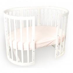 Детская круглая кроватка для новорожденного трансформер EllipseBed 6 в 1
