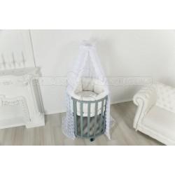 Детская круглая (овальная) кроватка трансформер для новорожденного Incanto DaVinci 6 в 1