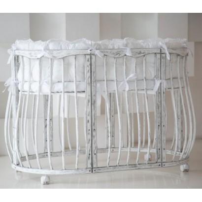 Детская круглая (овальная) кроватка для новорожденного ComfortBaby SmartGrow 7 в 1 Imperio
