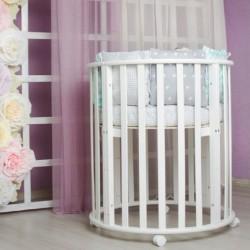 Детская круглая кроватка трансформер Incanto Gio Deluxe 6в1