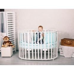 Круглая кроватка трансформер Incanto Gio Deluxe 5в1