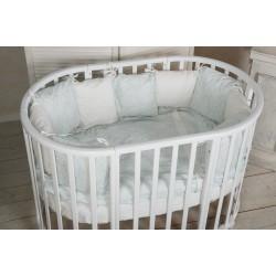 Круглая кроватка трансформер Nastella Piano 7в1