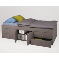 Подростковая кроватка-трансформер Polini Simple 3100 с 4 ящиками