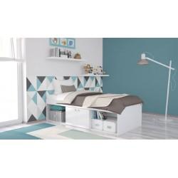 Подростковая кроватка Polini Simple 3000 с нишами