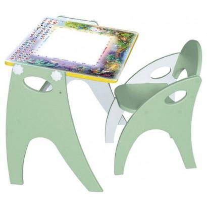 Набор детской мебели Интехпроект День-Ночь парта-мольберт-стульчик