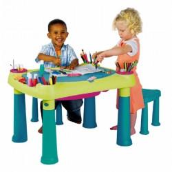 Столик Keter Creative для детского творчества + 2 табуретки