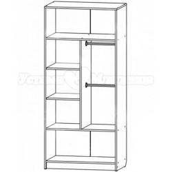 Шкаф двухсекционный для детской Сафаня 1