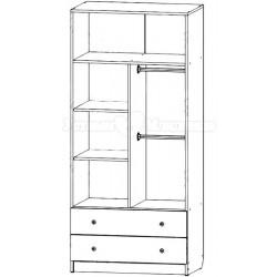 Шкаф для детской комнаты двухсекционный Сафаня 2