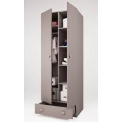 Шкаф двухсекционный Polini Simple с ящиком