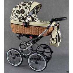 Детская коляска с плетёной корзиной 2 в 1 Kajtex Wiklina
