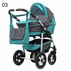 Детская коляска 3 в 1 Fenix PCOF Bartplast