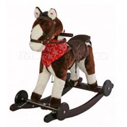 Музыкальная качалка Лошадка с колесами Jolly Ride 602