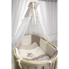 """Комплект для овальной кроватки Bombus """"Крем-брюле"""" 7023 8 предметов"""
