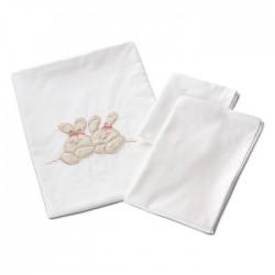 Комплект постельного белья для круглой кроватки Nuovita Leprotti (3 предмета) сатин