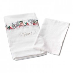 Комплект постельного белья для круглой и овальной кроватки Nuovita Fiori (3 предмета) сатин, жаккард, бязь, перкаль