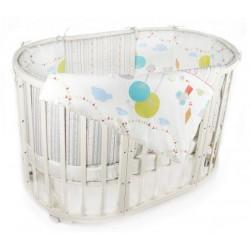 Комплект для круглой кроватки Incanto Дождик 6084 (6 предметов)