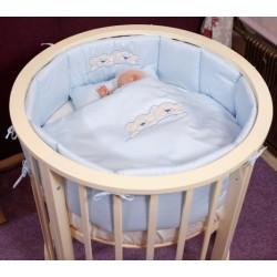 Комплект для круглой кроватки Incanto в колыбель (6 предметов) сатин
