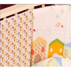 Комплект для овальной кроватки Incanto Домики (6 предметов) бязь