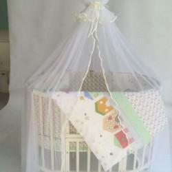 Комплект для круглой кроватки Incanto Домики (6 предметов)