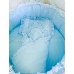 Комплект универсальный для круглой и овальной кроватки Incanto Нежность (12 предметов) сатин