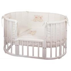 Комплект для овальной кроватки Nuovita Leprotti (6 предметов) 126x76 см
