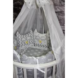 Комплект для круглой и овальной кроватки Совята (11 предметов)