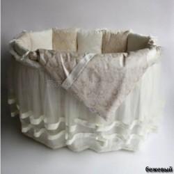 Универсальный комплект для круглой и овальной кроватки Эстель (6 предметов) сатин