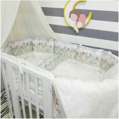 Комплект для овальной кроватки 7 предметов ByTwinz Ангелы