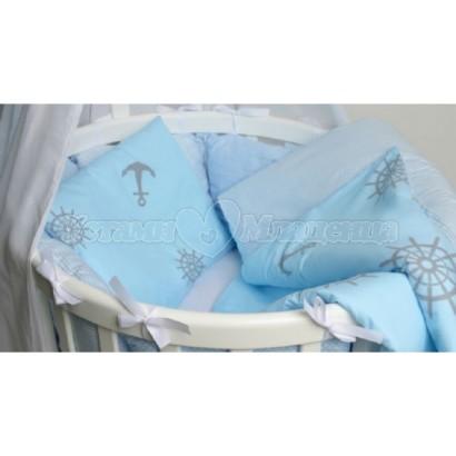 Комплект для овальной кроватки 7 предметов ByTwinz Бриз