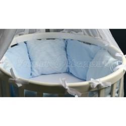 Универсальный комплект для круглой и овальной кроватки 7 предметов ByTwinz Бриз хлопок