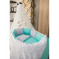 Комплект для овальной кроватки 7 предметов ByTwinz Дамаск