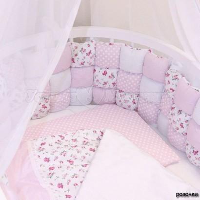 Комплект в овальную кроватку ComfortBaby Colorit HappyFamily