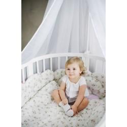 Авторский комплект СomfortBaby Облака в круглую и овальную кроватку или двуспальный манеж