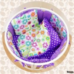 Комплект для круглой и овальной кроватки СomfortBaby Colorit 7 предметов
