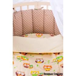 Универсальный комплект для круглой и овальной кроватки СomfortBaby Colorit 7 предметов сатин