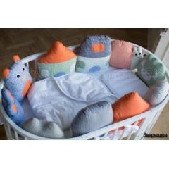 Комплект для круглой и овальной кроватки СomfortBaby Colorit Зверюшки 7 предметов
