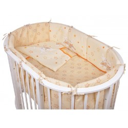 Комплект для овальной кроватки Pituso Зайки (6 предметов) бязь