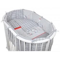 Комплект для овальной кроватки Pituso Зебра (6 предметов) бязь