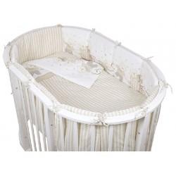 Комплект для овальной кроватки Pituso Мишки (6 предметов)