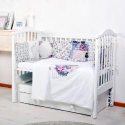 Комплект универсальный для стандартной и овальной кроватки BamBola Прованс (6 предметов)