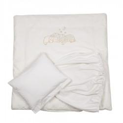 Комплект для круглой кроватки 5 предметов Pituso Звёздочка сатин