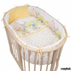 Комплект для овальной кроватки Pituso Маленькое королевство (6 предметов) поплин