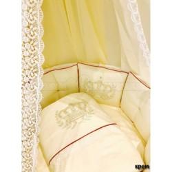 Универсальный комплект для круглой и овальной кроватки Incanto Polini (11 предметов) сатин