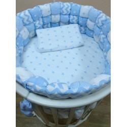 Комплект универсальный для круглой и овальной кроватки Бомбон (6 предметов) бязь