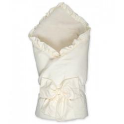 """Конверт-одеяло на выписку Сонный гномик """"Ваниль"""" с мехом"""