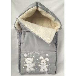 Меховой конверт для новорожденного Селена (Сдобина) Арт. 35