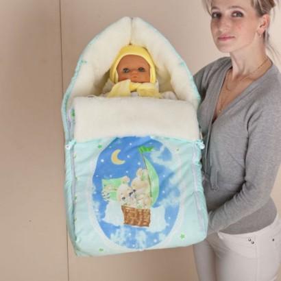 Меховой конверт для новорожденного Селена (Сдобина) Арт. 35.2