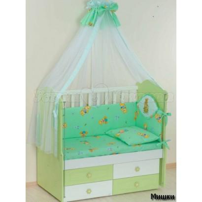 Комплект в детскую кроватку 7 предметов Селена  АРТ. - 02