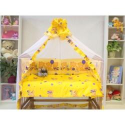 Набор для детской кроватки из 7 предметов Монис стиль Мишка с кубиками